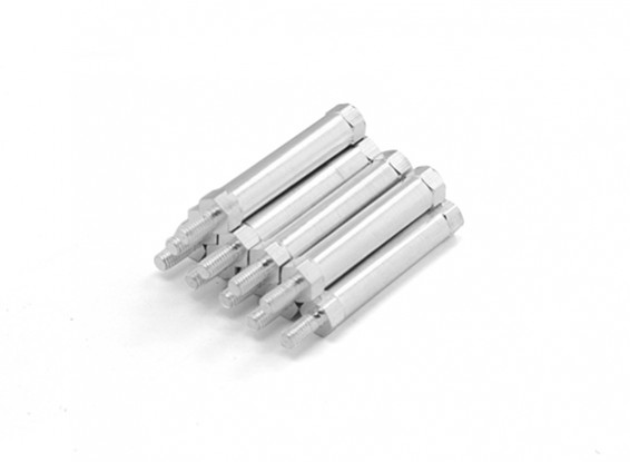 Lightweight Aluminum Round Section Spacer With Stud end M3 x 30mm (10pcs/set)