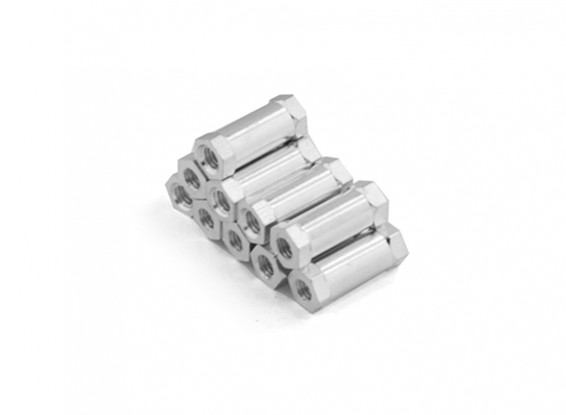 Lightweight Aluminum Round Section Spacer M3 x 13mm (10pcs/set)