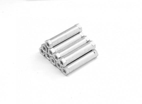 Lightweight Aluminum Round Section Spacer M3 x 24mm (10pcs/set)