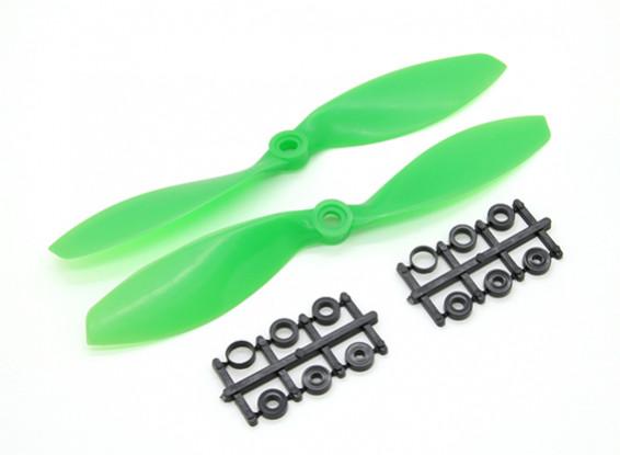 Hobbyking Propeller 7x3.8 Std & Reverse Rotation Green (2pcs)