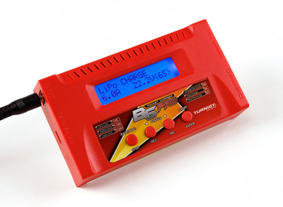 Turnigy B6 PRO 50W 6A Balance Charger (Red)
