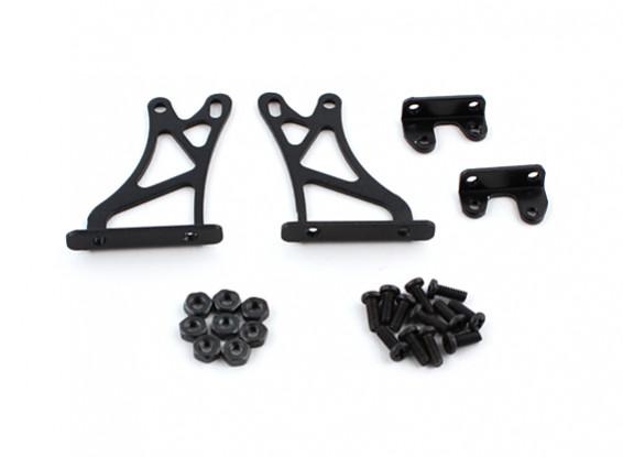 1/10 Alum. Adjustable Wing Support Frame - High (Black)