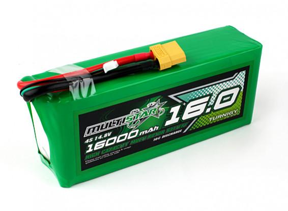 Multistar High Capacity 16000mAh 4S 10C Multi-Rotor Lipo Pack
