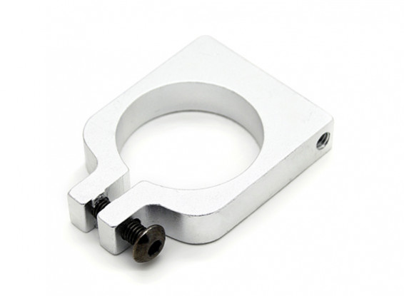 Silver Anodized Single Sided CNC Aluminum Tube Clamp 20mm Diameter