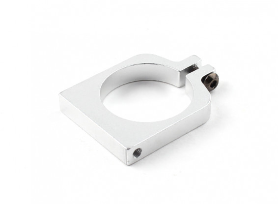 Silver Anodized Single Sided CNC Aluminum Tube Clamp 25mm Diameter