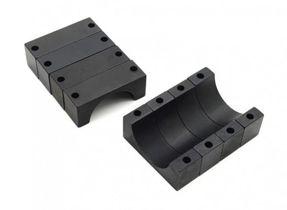 Black Anodized CNC 10mm Aluminum Tube Clamp 22mm Diameter