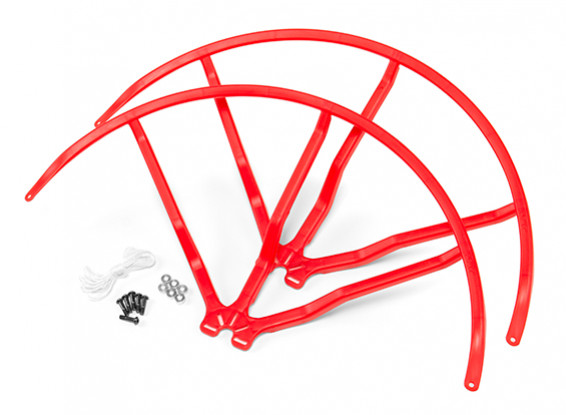 12 Inch Plastic Universal Multi-Rotor Propeller Guard - Red (2set)