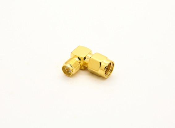 RP-SMA Jack < - > RP-SMA Plug 90 Degree Adaptor