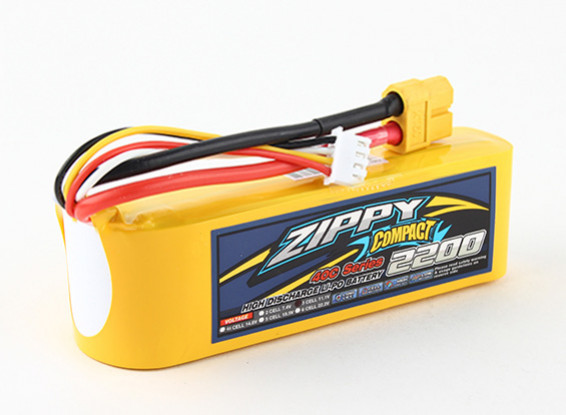 ZIPPY Compact 2200mAh 3s 40c Lipo Pack