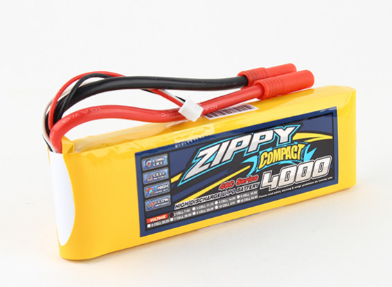 ZIPPY Compact 4000mAh 2s 40c Lipo Pack