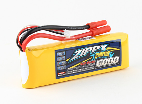 ZIPPY Compact 5000mAh 2s 40c Lipo Pack