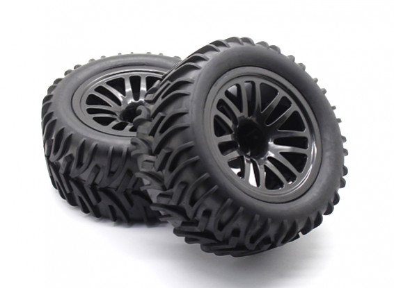 Pre-glued Tire Set - 1/10 Quanum Vandal XL 4WD Racing Buggy (2pcs)