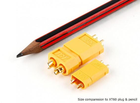 XT30 Power Connectors for 30A Continuous Applications (Battery Side) (5pcs)