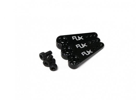 RJX Aluminum Servo Arm 25T Long - Black (3pcs)
