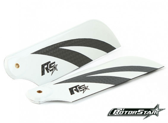 70mm RotorStar Premium 3K Carbon Fiber Flybarless Helicopter Tail Blades