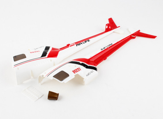 WLToys V931 AS350 - Plastic Fuselage (Rear)