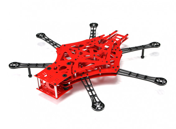 Scarab V3 550 FPV HexaCopter With Isolated Cam Mount And FR4