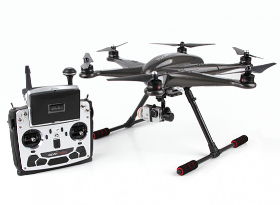 Walkera TALI H500 FPV Hexacopter with Devo F12E, G-3D Gimbal, iLookplus (Ready To Fly)