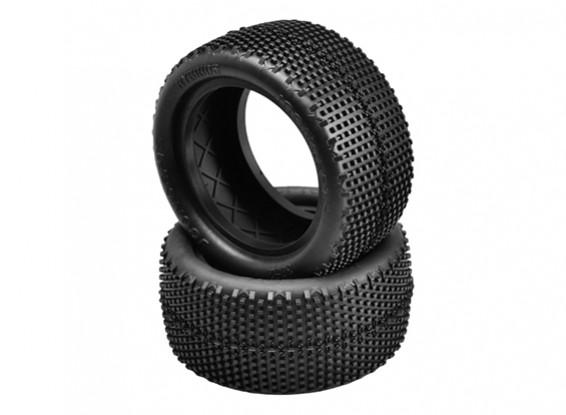 JCONCEPTS Hybrids 1/10th Buggy Rear Tires - Blue (Soft) Compound
