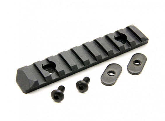 PTS Enhanced Rail Section 9 Slots (Black)