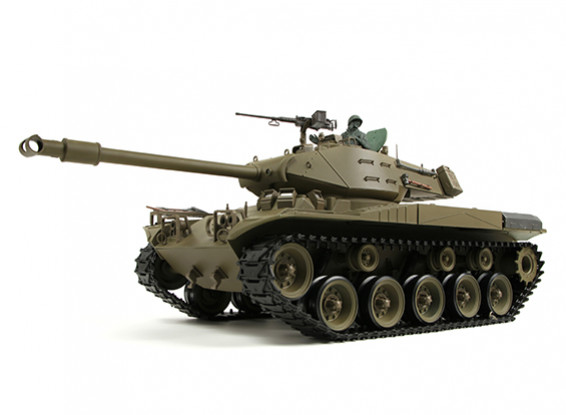 US-M41A3 Walker BullDog Light RC Tank RTR w/ Airsoft, Tx, Sound Generator & Smoke (EU (EU Warehouse)