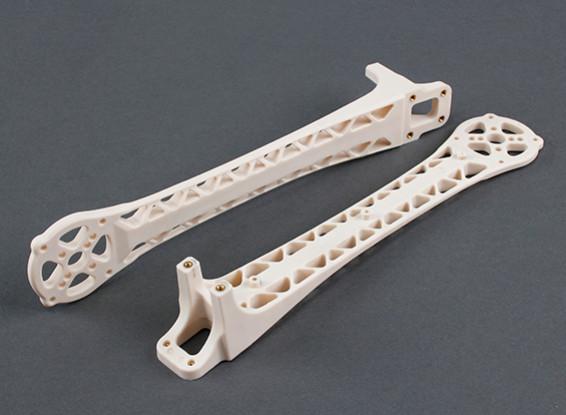 Upswept Upgrade Arms for DJI Flamewheel Style Multirotors V500 / H550 (White) (2pcs)