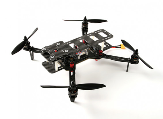 DYS 320 Glass Fiber Folding Quadcopter With Storage Case (PNF)