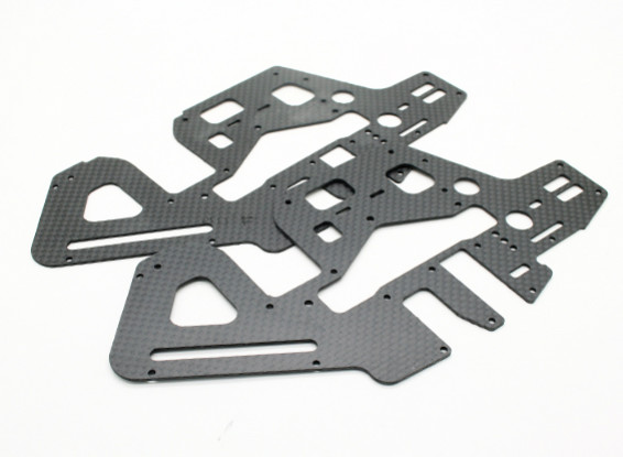 Assault 450DFC TT & Belt Flybarless 3D Helicopter Carbon Side Frames (2pcs)