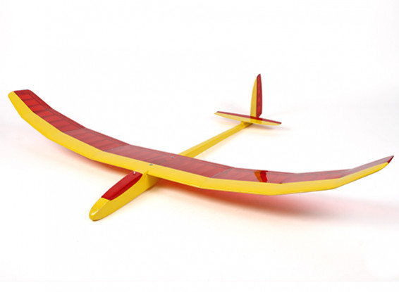 Felipe Vadillo Designed Dynamo Glider Balsa 1500mm (Red/Yellow) (ARF)