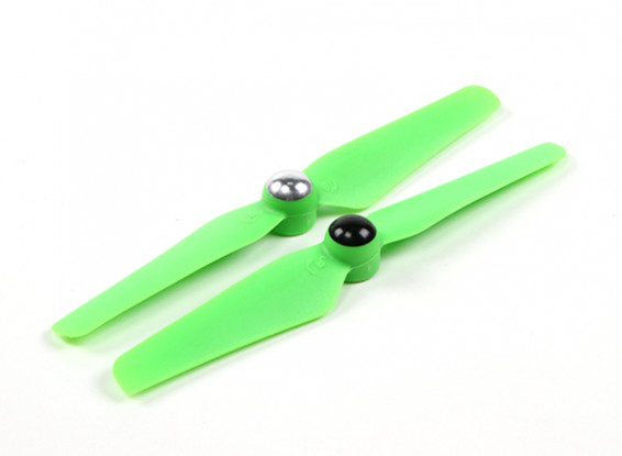 5 x 3.2 Self Tightening Propeller for Multi-Rotor CW & CCW Rotation (1 Pair) Green