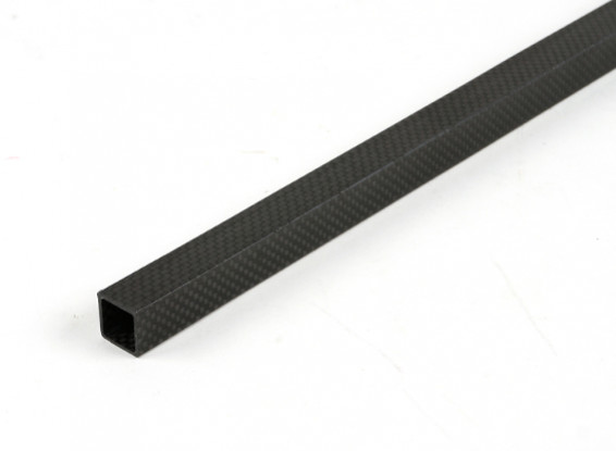 Carbon Fibre Square Tube 15 x 15 x 600mm