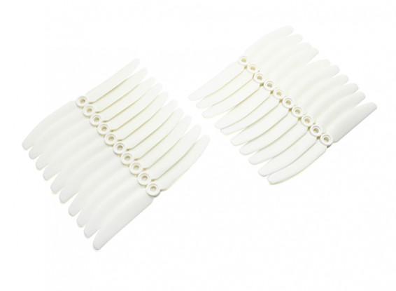 Gemfan 5030 Multirotor ABS Propellers Bulk Pack (10 Pairs) CW CCW (White)