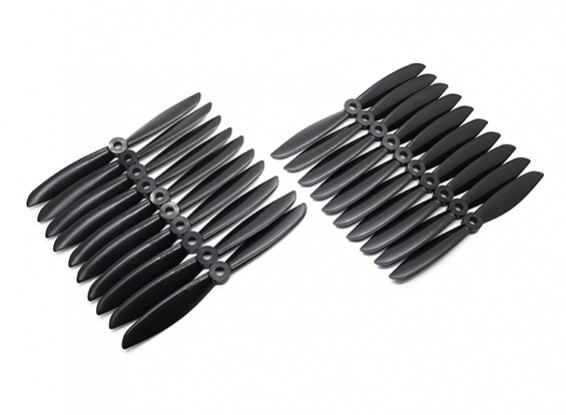 Gemfan Multirotor ABS Bulk Pack 6x4.5 Black (CW/CCW) (10 Pairs)