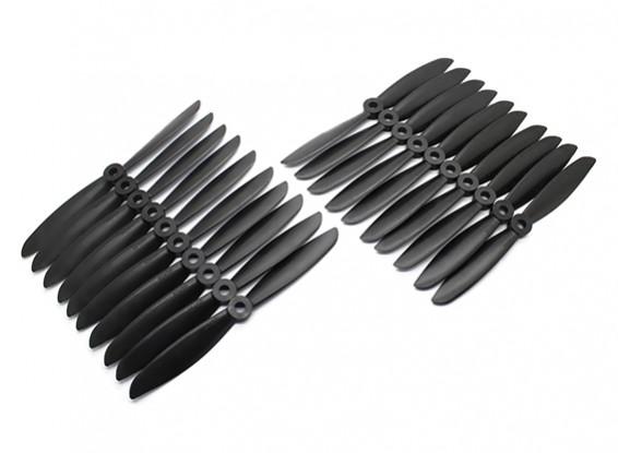 Gemfan Multirotor CRP Bulk Pack 6x4.5 Black (CW/CCW) (10 Pairs)