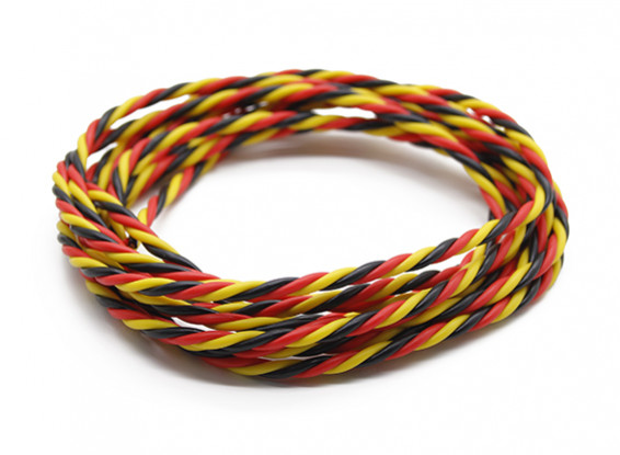 Twisted 22AWG Servo Wire Red/Black/Yellow (2m)