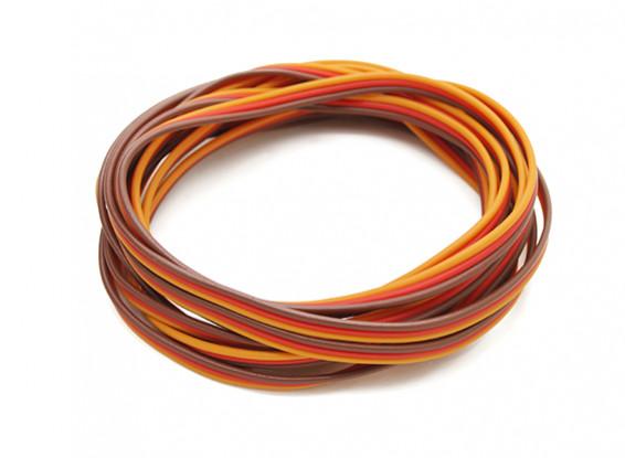 Flat 26AWG servo wire 200cm (R/O/B)