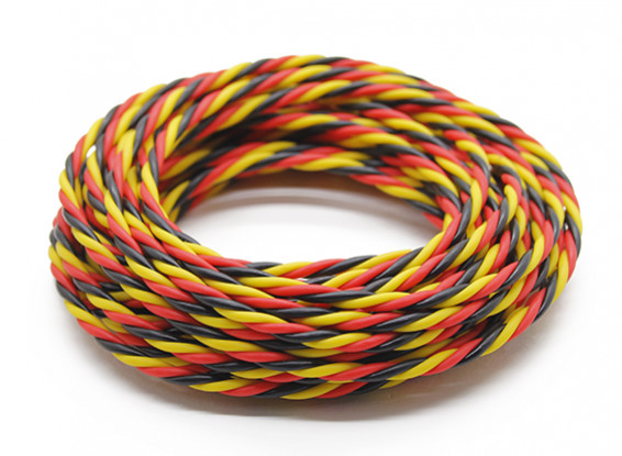 Twisted 22AWG Servo Wire Red/Black/Yellow (5m)