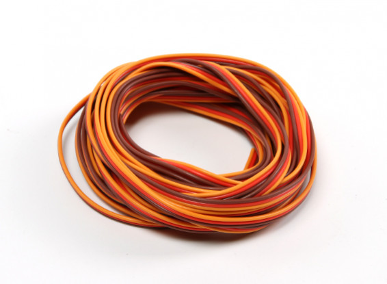 26AWG Servo Wire 500cm (Red/Brown/Orange)