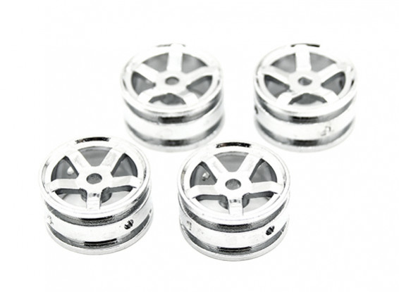 5 Spokes Rim (4pcs) - OH35P01 1/35 Rock Crawler Kit