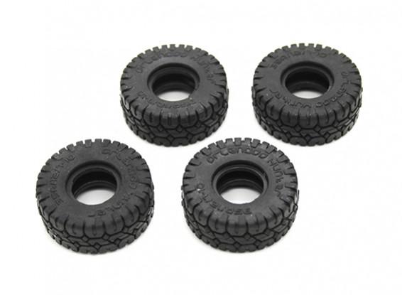Big Block Tires (4pcs) - OH35P01 1/35 Rock Crawler Kit