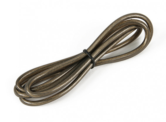 Turnigy Pure-Silicone Wire 12AWG 1m (Translucent Black)