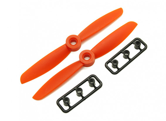 Gemfan 4045 GRP/Nylon Propellers CW/CCW Set (Orange) 4 x 4.5
