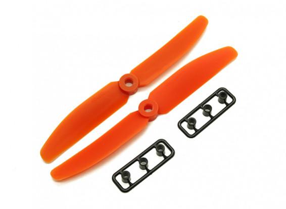 Gemfan 5040 GRP/Nylon Propellers CW/CCW Set (Orange) 5 x 4