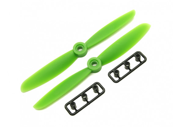 Gemfan 5045 GRP/Nylon Propellers CW/CCW Set (Green) 5 x 4.5