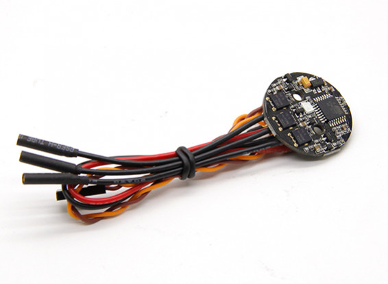 Round 12A ESC with Green LED For Spedix Series Multirotors (1pc)