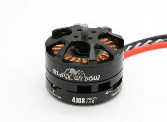 Black Widow 4108-390Kv With Built-In ESC CW/CCW