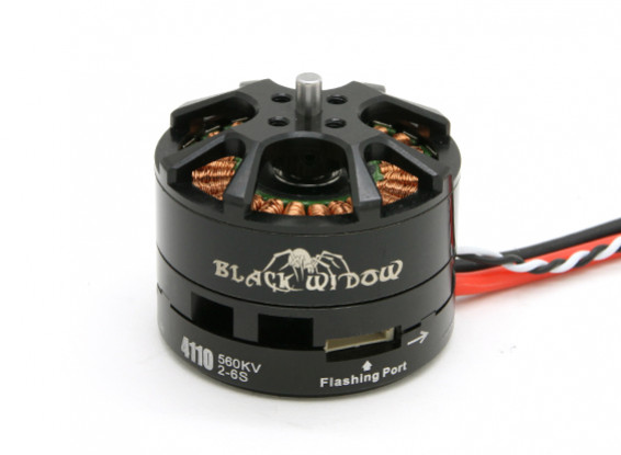 Black Widow 4110-560Kv With Built-In ESC CW/CCW