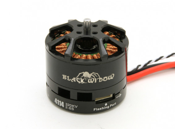 Black Widow 4114-320Kv With Built-In ESC CW/CCW
