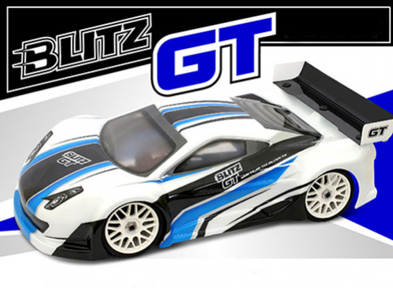 BLITZ 1/8 GT E/P Body Shell with Wing (1.2mm)