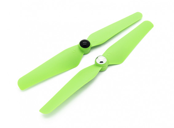 Quanum Self Tightening Nylon Propeller 6x3.2 Green (CW/CCW) (2pcs)
